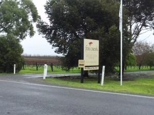 Fox Creek Cellar Door Sign